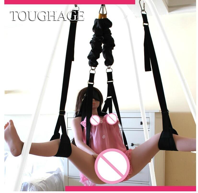 Chaise d'oscillation de corde élastique de sexe de coriage J410 produits adultes meubles de jouets de sexe spécificités à la russie seulement balancent aucun hamac debout