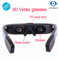 Toptronics G19 Newest Portalbe Android Wifi Smart Glasses 3D LCD screen android 5.1 1080p HD virtual reality 3d video glasses
