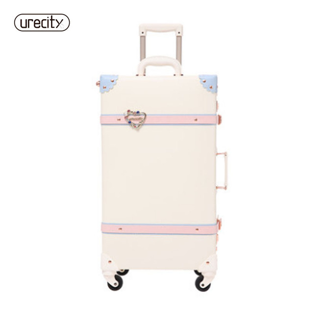 2018 new Retro spinner suitcase refreshing suitcase student travel luggage rolling leather travel luggage free shipping trave
