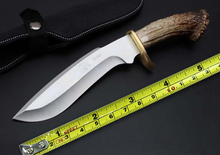 Fixed Knives Hunting Survival Knife,5Cr15Mov Blade Imitation Antlers Handle Camping Tactical Outdoor Tools