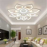 Acrílico lâmpada do teto Moderna Levaram luzes Para Sala de estar Quarto Casa folha Elétrico 110/220 v 12/15 cabeça de teto luz