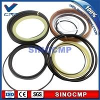 SINOCMP 2 sets EC330B EC330 Boom Cylinder Repair Seal Kit  Service kits for Volvo excavator