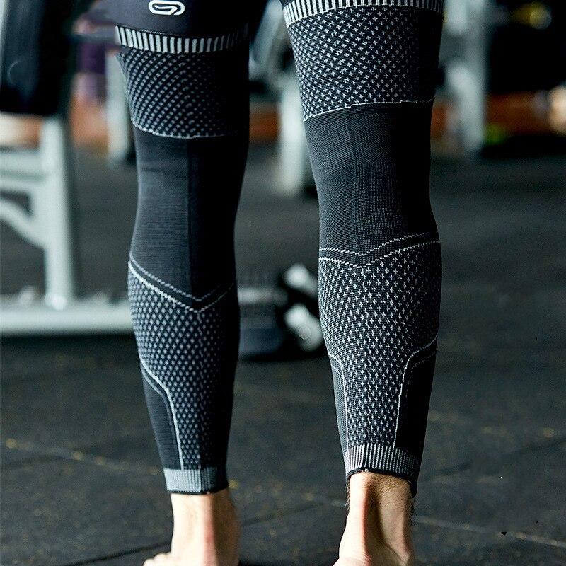 2PCS Leg Warmers 3D Knitting Weaving Long Compression Leg Sleeve Cycling Basketball Running Knee Leg Protector Support Dropship