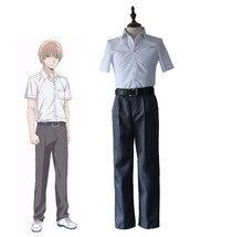 anime scums wish kuzu no honkai mugi awaya cosplay costumes full set school uniform shirt pants halloween costume - Wish Halloween Costumes