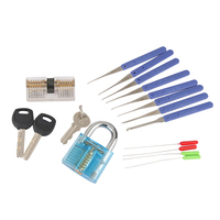 Locksmith Practice Tool Set 1Pcs Transparent Padlock 1PCS Lock 12PCS Broken Key Extractor Tools P20