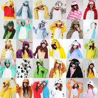 New Unisex Men Women Adult Pajamas Cosplay Costume Animal Onesie Sleepwear Suit Tiger Panda Pikachu Unicorn
