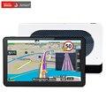 Junsun 7 pulgadas de coches de navegación gps android 4.4 quad-core wifi/fm tablet pc Camión vehículo Navegador gps Navitel 9.5 Mapa de Europa envío