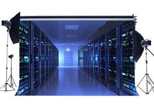 Image 1 - Salle de surveillance toile de fond bleu brillant lumières casier Shabby marbre sol créatif papier peint photographie arrière plan enfants adultes
