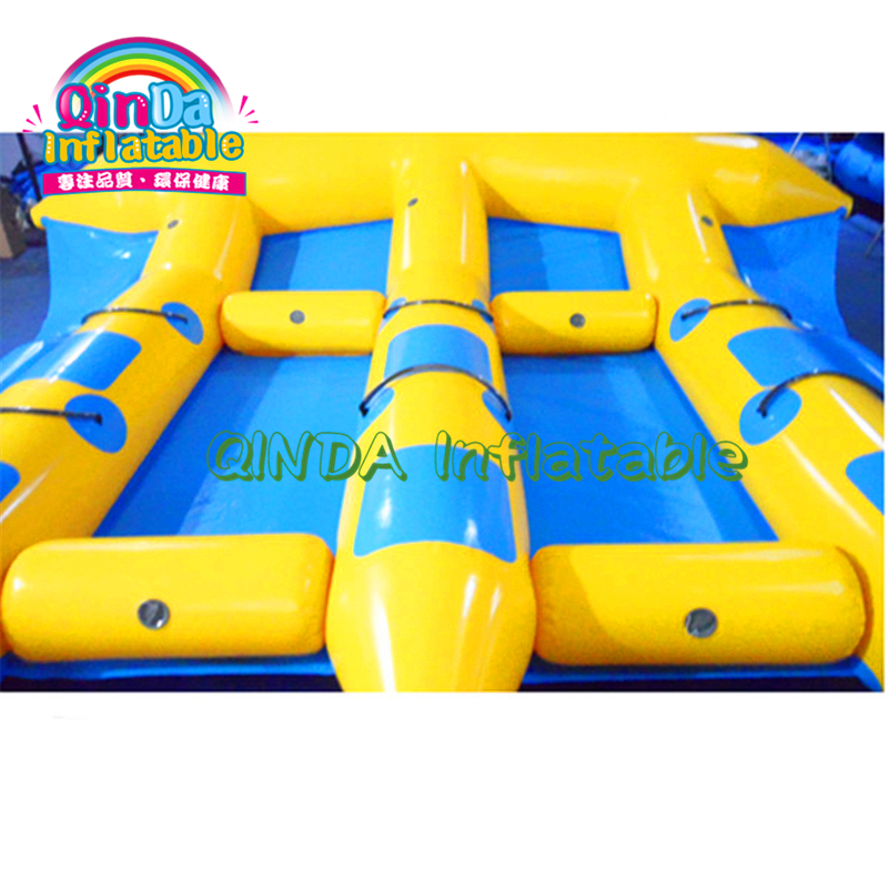 Summer hot water play games 3 tubes inflatable flying banana fish/flying towables for water sports toys - 4