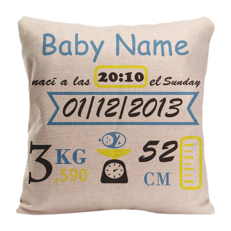printed pillow cases. Customized With Baby Birth Data Printed Pillowcases Cute Perfect Gift For The Kids Room Decorative DIY Pillowcase-in Pillow Case From Home \u0026 Garden On Cases