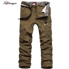 Брюки карго мужские военные армейские штаны больше карманов штаны на молнии на открытом воздухе повседневные брюки большого размера 30-44 брюки