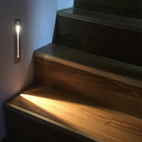 Indoor Led Motion Sensor Stair Light AC85 265V Recessed Wall Lamp Sconce Lights 2W Step Lamps Stairway Lights Corridor Light