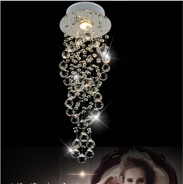 Free shipping New Modern luxury K9 spiral Crystal Lamp Crystal pendant light, AC 100% Guaranteed D200/D300/D400mm For Selection new arrival crystal lamp crystal stair pendant light crystal pendant light diameter 50 free shipping