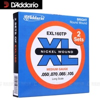 D'addario Nickel Wound Bass Strings, Long Scale, EXL160tp EXL170tp, 2 sets