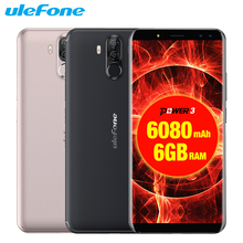 Original Ulefone Power 3 Mobile Phones 6.0 inch 64GB ROM 6GB RAM Octa Core MTK6763 Android 8.1 Four Cameras 6080mAh Smartphone