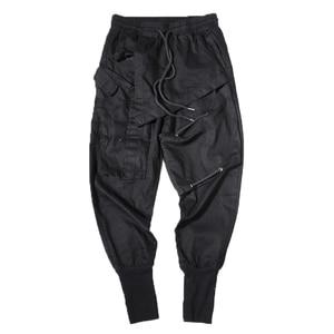 Image 5 - Мужские шаровары в стиле хип хоп, черные повседневные спортивные брюки карго для бега, весна 2020