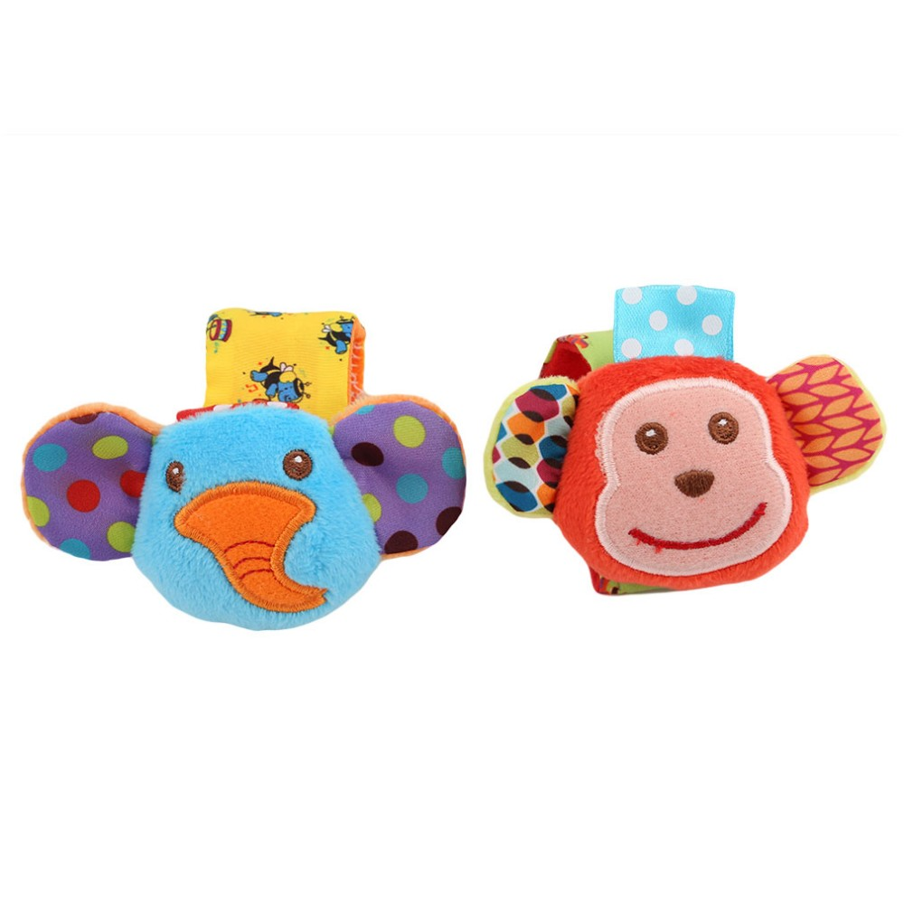 2 pcs/set bebe rattles/socks can make sound cute toy for baby
