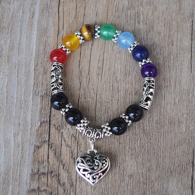 7 Chakra Bracelets Bangle Healing Stone Pray Mala3