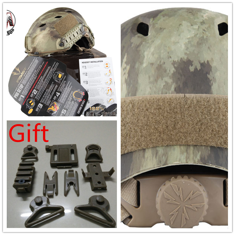 ABS Adjustable protective helmet Base Jump Helmet EMERSON FAST Helmet BJ TYPE EM5659F A-TACS digicare plc 10l