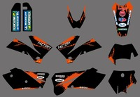 0271 ניו מדבקות ומדבקות גרפיקה עם רקע תואם ל2007 KTM 125 250 450 525 SX SXF EXC XC SUPERMOTO SX