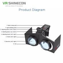 도매 가격 프레임 경량 휴대용 3D VR 박스 전화 가상 현실 안경