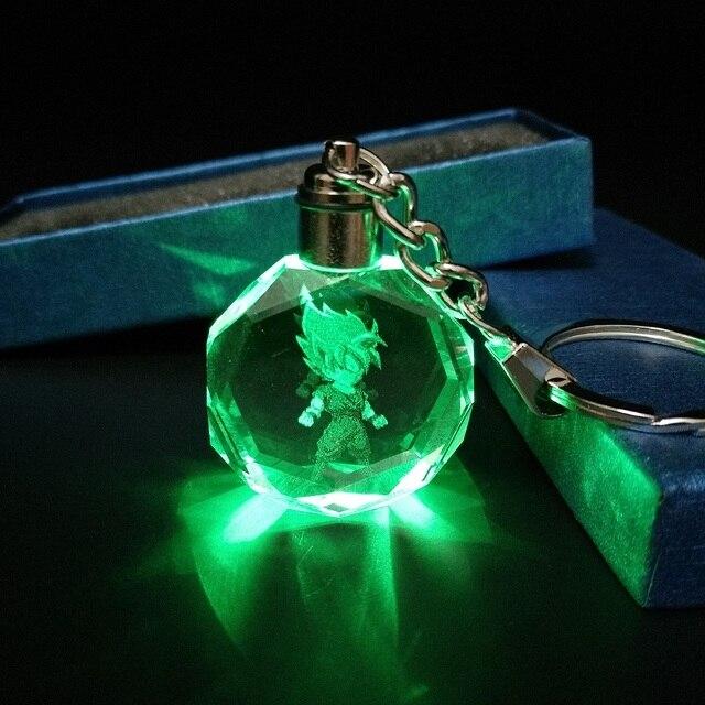Bonito Brilhante de Cristal Dragon Ball Z Keychain Dos Desenhos Animados Anime Cosplay Bola Bola Brilhante Levou Chaveiros Carro Chaveiro Pingente Chaveiro