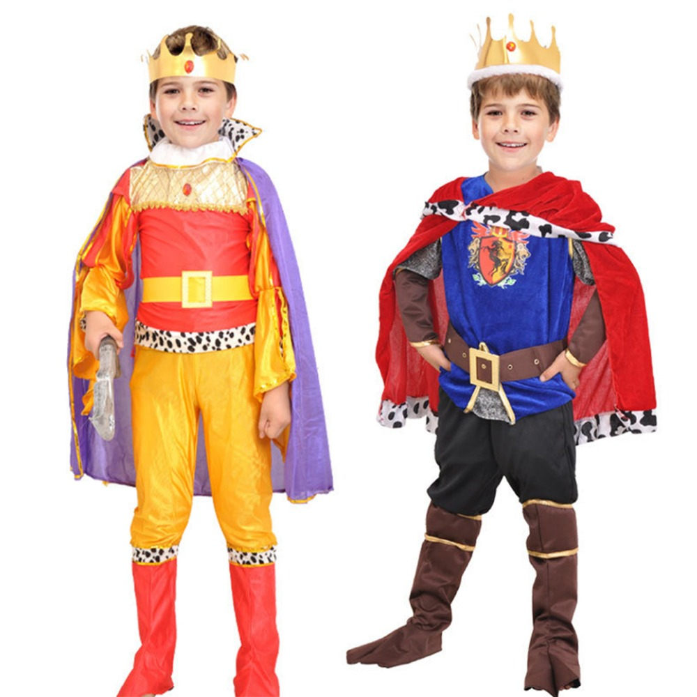 Halloween kids Prince Costume for Children The King Costumes Children's Day Boys Fantasia European royalty Cosplay clothing