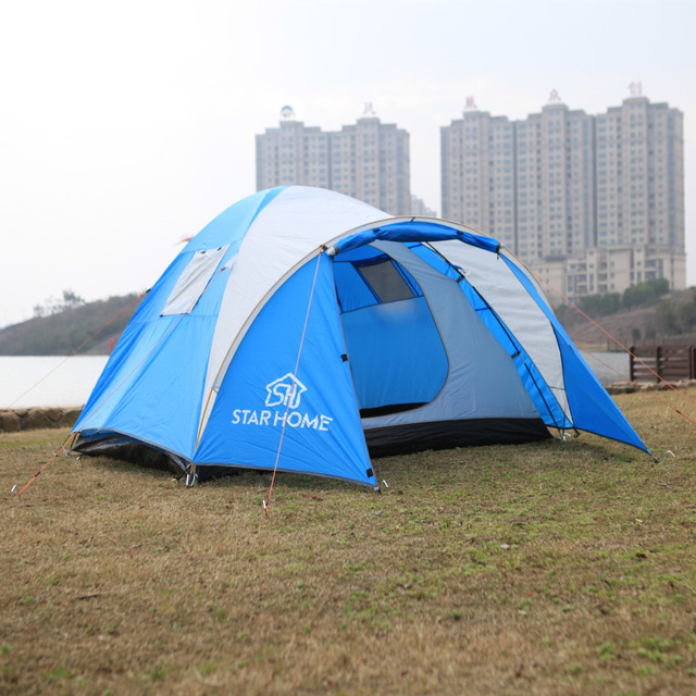 Outdoor Lightweight 2 3 Person Tent For C&ing Waterproof One Bedroom Single Layer Travel Trekking Hiking : 2 3 person tents - memphite.com