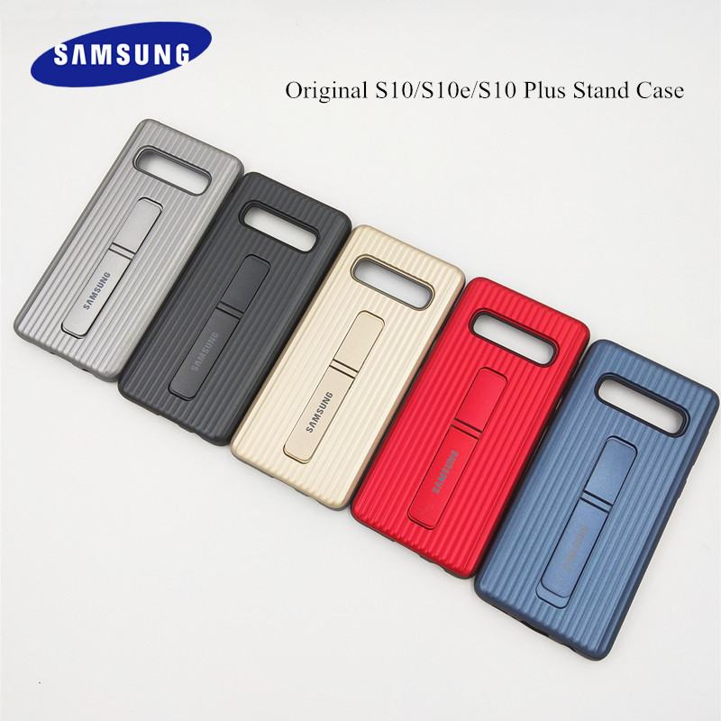 100% Original Samsung Galaxy S10/S10 Plus Stand Case Shock-Proof Heavy Duty Shell Cover For Galaxy S10E/S10 Lite/S10 +