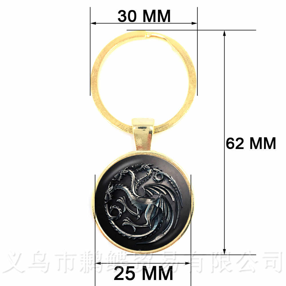 Game of Thrones Portachiavi 9 Famiglia Badge Segno Ciondolo Portachiavi Per Le Donne E Gli Uomini di Famiglia Emblema Gli Amanti del Regalo Dei Monili
