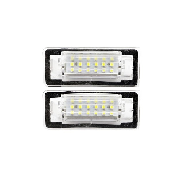 2 unids 18SMD LED para Audi TT 8N CANbus LED placa de matrícula auto ...