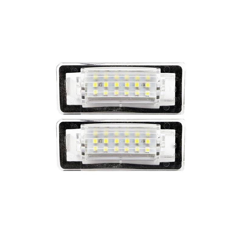 2PCS 18SMD <font><b>LED</b></font> FOR AUDI TT 8N <font><b>CANBUS</b></font> <font><b>LED</b></font> License plate light auto accessories auto <font><b>led</b></font> license plate lamp Car-styling