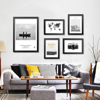 Wall Pictures For Living Room Wall Art Canvas Painting Grey Map Posters And Prints Nordic Decoration