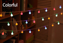 LED String Lights Cherry Ball Lamps Plug Battery Powered Holiday Starry Fairy Garland for Bedroom Garden Christmas Wedding Party недорого