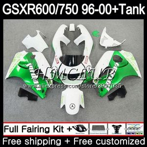 +Tank For SUZUKI SRAD GSXR600 1996 1997 1998 1999 2000 24HC.14 GSX-R600 GSXR 750 600 GSXR750 hot green 96 97 98 99 00 Fairing(China)