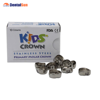Korean Original Stainless Steel Baby Crown Refill Package/Dental Kids Crown 10 pcs Same Size in One Box