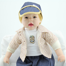 24 inch Reborn Baby Doll Lifelike Boy Vinyl Baby Toys Cute Soft Reborn Toddler Collection Dolls For Birthday Gift