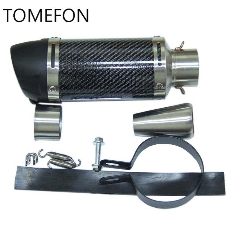 LEOVINCE 51mm Leovince tuyau d'échappement Moto en carbone silencieux Moto échappement pour KTM CRF230 Z750 Z800 FZ6 TTR125 ER6N