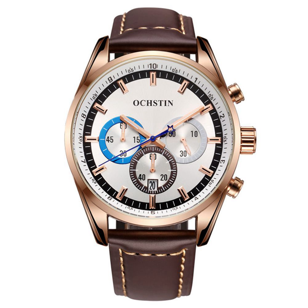 Limited OCHSTIN Luxury Brand Military Watches Men Quartz Analog Leather Clock Man Sports Army Watch Men's Watches GQ046 new ochstin luxury brand military watches men quartz analog new leather clock man sports watches army watch relogios masculino