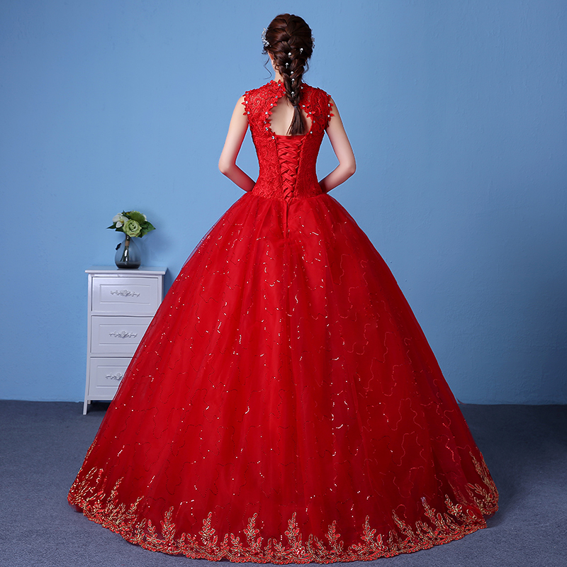 Cheap Red Bridal Gowns