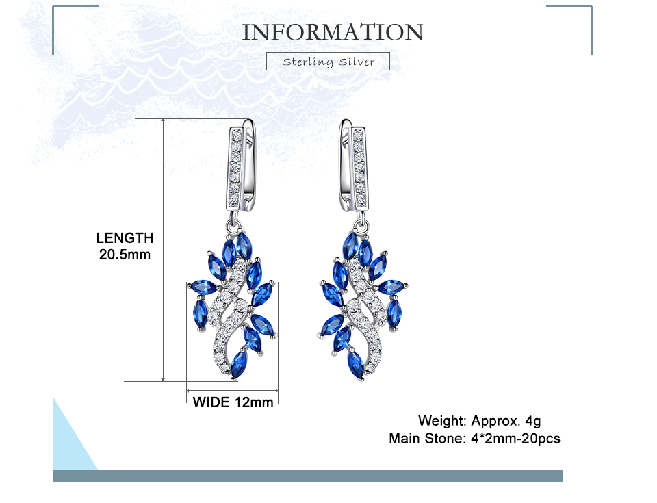 UMCHO-Sapphire--925-sterling-silver-earrings-for-women-EUJ088S-1pc (2)
