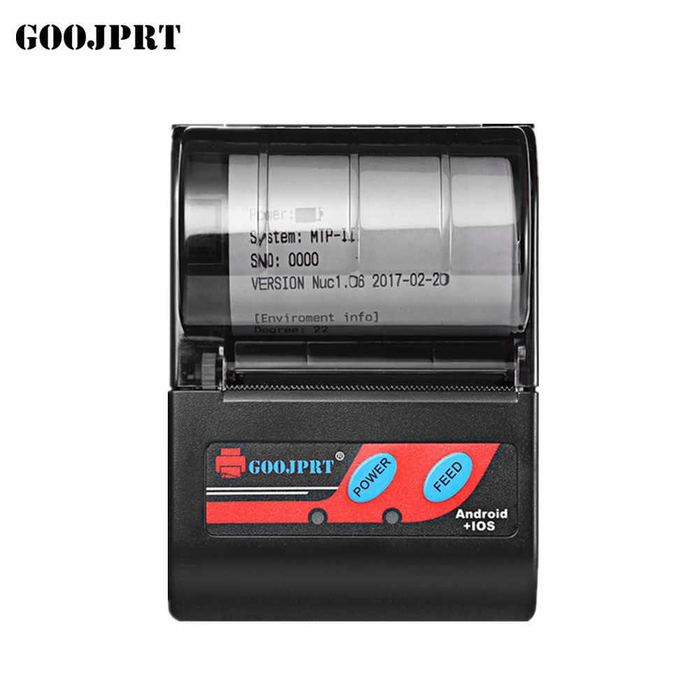 GOOJPRT Бесплатная доставка Дешевые 58 мм bluetooth-принтер чеков Мини термопринтер для samsung Android смартфон Impresora