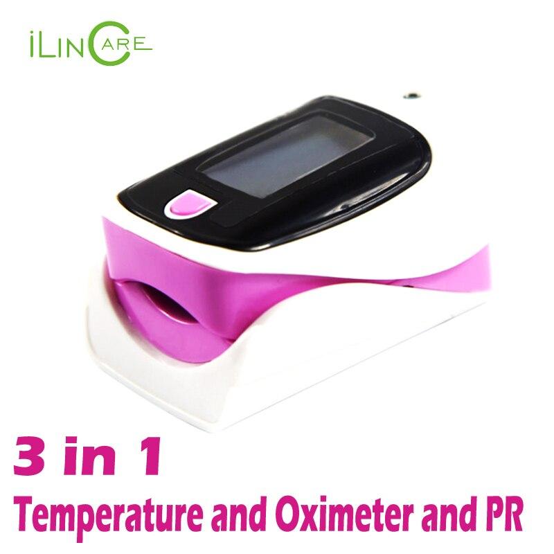 Newest 3 in 1 pulse oximeter spo2 oximetro heart monitor Blood Oxygen Saturation Meter digital non