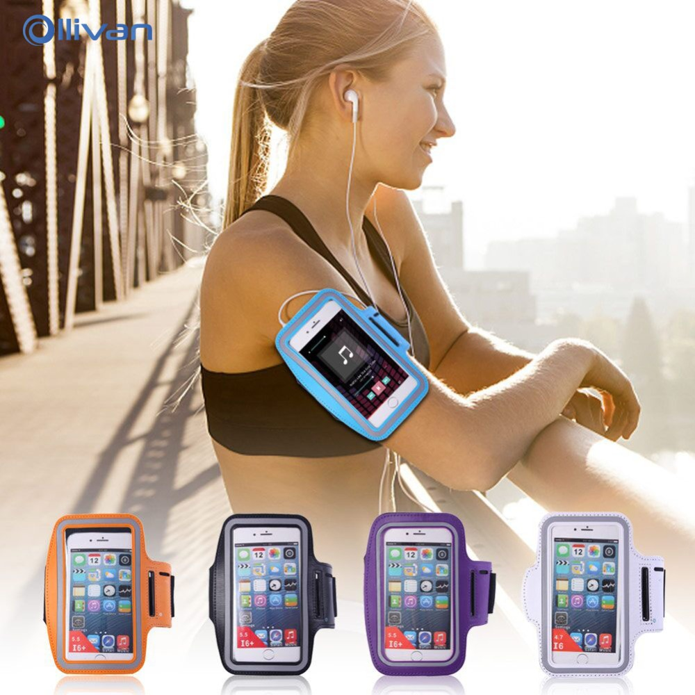 Universal Waterproof Running Gym Arm Band Bag Pouch Case For iPhone 6 s 7 8 Plus X 5 5S Se Phone Bags For XiaoMi RedMi 5 Plus 4X