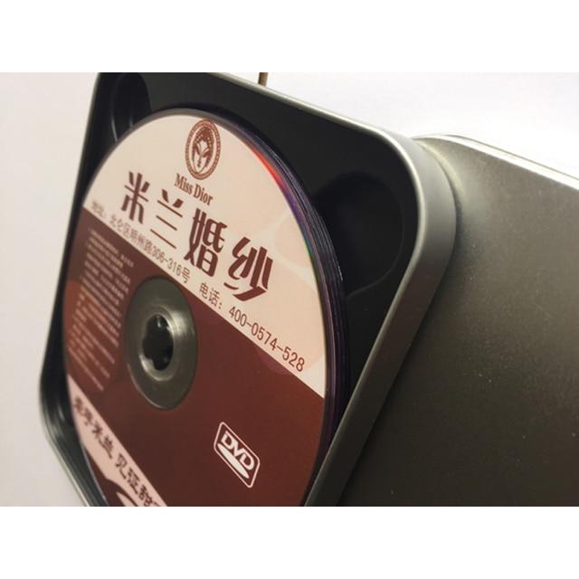 6 шт. коробки для DVD дисков CD rw Обложка медиа-накопитель Органайзер размытый ящик для хранения держатель Контейнер книжные рукава Чехол-кошелек