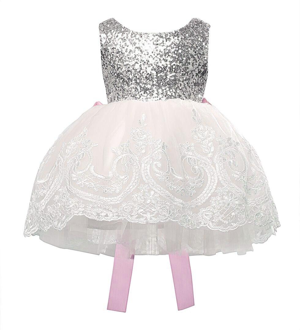 Fashion Chiffon Children Girl Lace Bridesmaid Wedding Pageant Ball Gown Formal Dress Kids Toddler Princess Sleeveless Dress