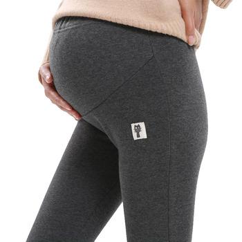 4XL Winter Velvet spodnie dla kobiet w ciąży legginsy ciążowe ciepłe ubrania pogrubienie Ciąża spodnie Odzież ciążowa tanie i dobre opinie Maternity Stałe dftgg Rajstopy XEIOBB Naturalny kolor Bawełna poliester Dziane