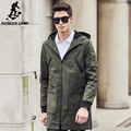 Pioneer Camp 2017 new trench coat men brand clothing Top Quality male long army green trench coat windbreaker jacket  611315