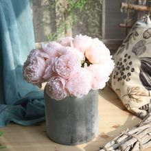 5 Heads Artificial Peony Flowers Bridal Bouquet DIY Silk flower For Home Wedding Decoration