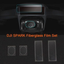 New 4pcs/set Flexible Fiberglass HD Camera Lens Protector Drone Body Screen Protective Film for DJI SPARK Drone Accessories